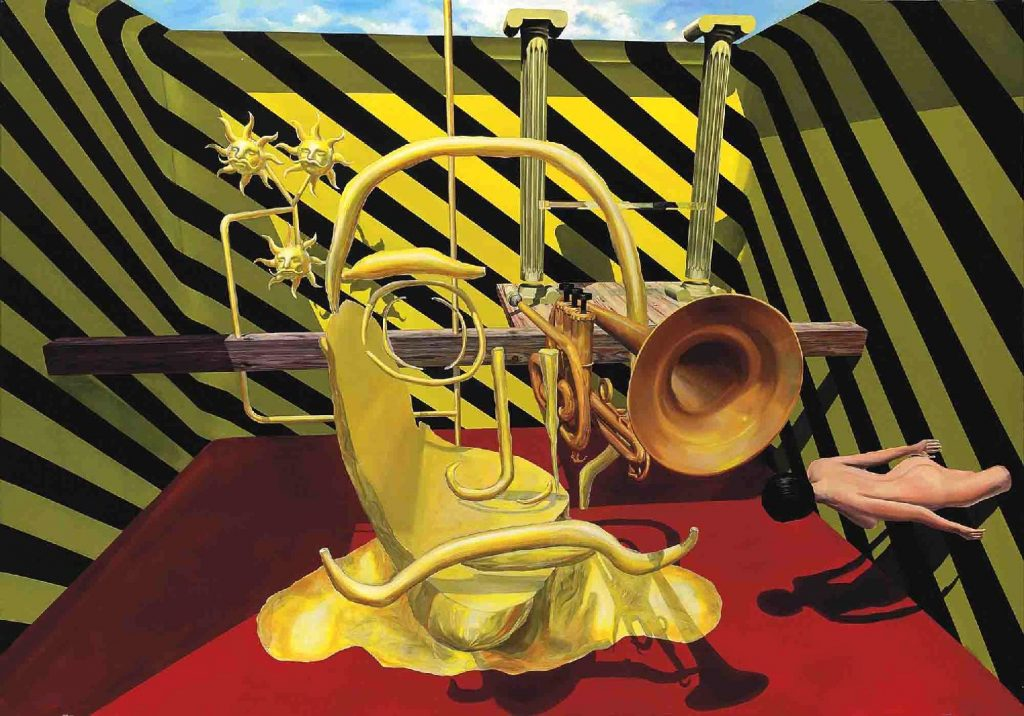 """Solo for Trumpet"" par Albert Oehlen, 2002"