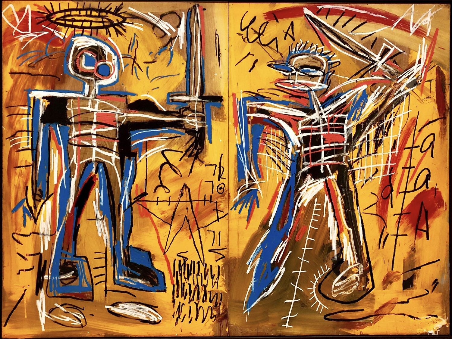 Offensive Orange par Jean Michel Basquiat, 1982