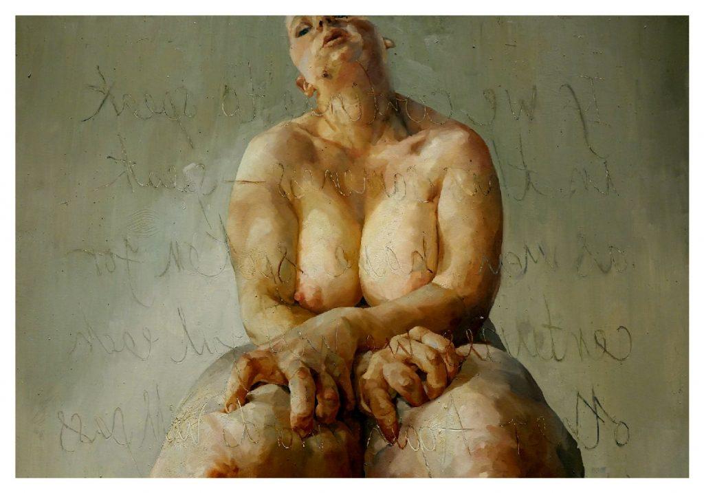 """""""Propped"""" par Jenny Saville, 1992"""